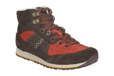 Womens Sports Boots - Incast Hiker in Dark Brown from Clarks shoes