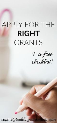 Make Sure You're Applying for the RIGHT Grants — Capacity Building Consulting – Micro Greens Business Grants, Business Writing, Business Planning, Craft Business, Business Marketing, Business Ideas, Grant Proposal Writing, Grant Writing, Education Grants
