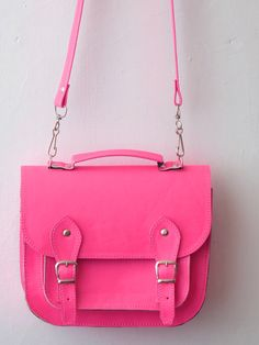 golden ponies - etsy vegan neon pink satchel - omg Green Purse 34c9a03f499