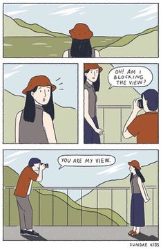 Sweet Illustrations About Love That People In Love Can Relate Cute Couple Comics, Couples Comics, Cute Couple Cartoon, Comics Love, Cute Couple Art, Cute Comics, Cute Cartoon, Sundae Kids, Romantic Comics