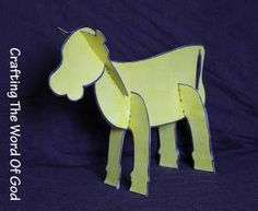 Golden calf craft with printable template