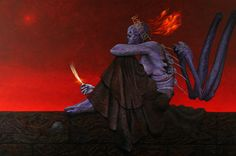 Wayne Barlowe Wayne Barlowe´s Inferno What Remains – (unpublished – acrylic on Gessoboard) http://waynebarlowe.wordpress.com/artwork/hell/