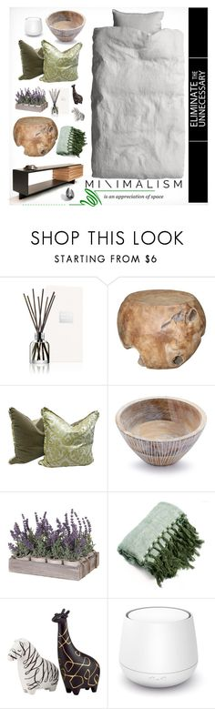 """Organic Minimalism"" by fl4u ❤ liked on Polyvore featuring interior, interiors, interior design, home, home decor, interior decorating, Molton Brown, Home Decorators Collection, Sur La Table and Kate Spade"