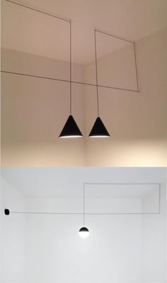 Interesante forma de usar el cable para diseñar una lámpara / The String Lights by Michael Anastassiades for Flos