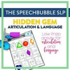 Engaging kids doesn't have to mean session prep burnout! Hidden Gems Articulation and Language is a LOW PREP resource that gives you the flexibility the engage your kids in different ways while targeting their speech and language goals. #slp #speechtherapy