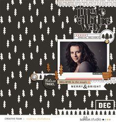 December Digital scrapbooking page using Oh What Fun - Digital Printable Scrapbooking Kit by Sahlin Studio