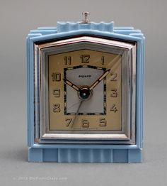 Bayard Skyscraper Plaskon Art Deco Clock.