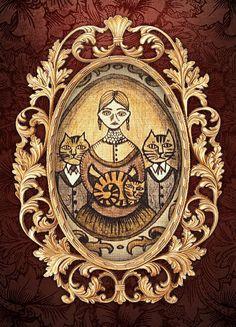 Victorian Cats Creepy Cute, Digital Image, Futuristic, Artworks, Victorian, Fantasy, Brown, Prints, Inspiration