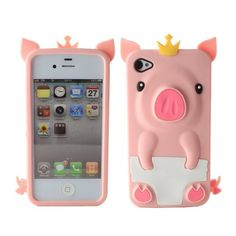 3D Pink Cute Pig Animal Silicone Soft Rubber Case Cover for Apple iPhone 4 4S | eBay