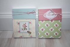 2 kleine Fächermappen mit Briefkuverts gemacht