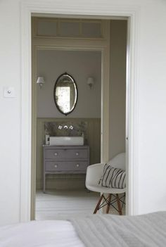 a vintage dresser re-purposed as basin