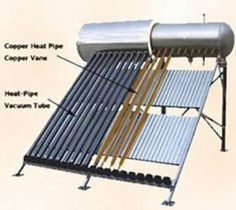 Amazon.com: 200 Liter Passive Solar Water Heater 20 Vacuum Tube with Heat Pipe Technology...: Everything Else