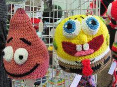Spongebob Squarepants Crocheted Hat, Custom in all sizes
