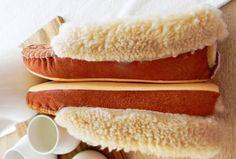 SHEEPSKIN slippers woman moccasin fur boots warm by HappyMoodShop