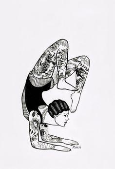 The tattooed acrobat by roskata on The art of Rossi Hadzhieva Pin Up Tattoos, Badass Tattoos, Time Tattoos, Body Art Tattoos, Small Tattoos, Calf Tattoo, Forearm Tattoo Men, Sorry Mom Tattoo, Desenhos Old School