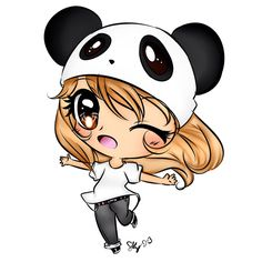 Group of: Panda Chibi! :D soo kawaii! Chibi Panda, Panda Kawaii, Chibi Kawaii, Cute Chibi, Kawaii Girl, Anime Chibi, Lolis Anime, Anime Art, Anime Love