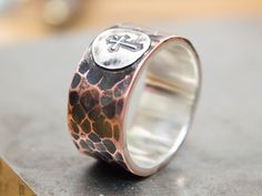 Anillo del mens, Mens banda anillo, anillo de cobre, anillo para hombre metal mezclado, personalizada plata anillo, anillo, anillo de banda ancha, los hombres de anillo de pulgar