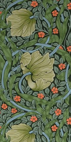 William Morris wallpaper by Scalamandre