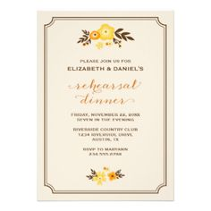 Elegant modern chic fall wedding rehearsal dinner party invitation design with calligraphy script typography and a cute illustrated border of fall leaves and flowers. Click the CUSTOMIZE IT button to customize fonts, move text around and create your own unique one-of-a-kind invitation design. #modern #autumn #floral #fall #fall #wedding #rustic #rehearsal #dinner #rehearsal #rehearsal #dinner #invitations #fall #rehearsal #dinner #trendy #country #invitation #elegant #typography #party ...