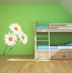 Pink Daisies With Different Sizes Wall Sticker #PinkDaisies ...