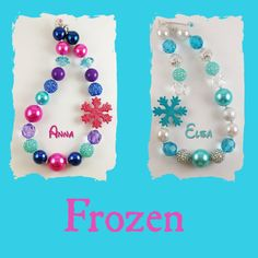 Frozen inspired necklace  Elsa or Anna by RazzBerryBeads on Etsy, $17.00
