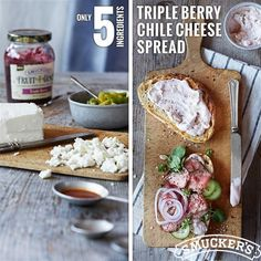 Triple Berry Chile Cheese Spread from Smucker's®
