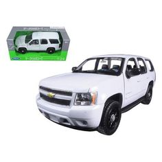 2008 Chevrolet Tahoe Unmarked Police Car White 1/24 Diecast Car Model by Welly