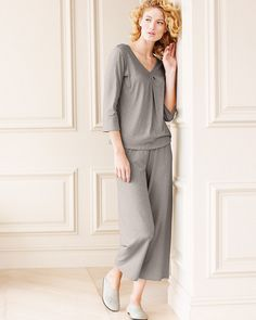 534ad57830 Eileen Fisher Soft Pleated Pajamas - Garnet Hill