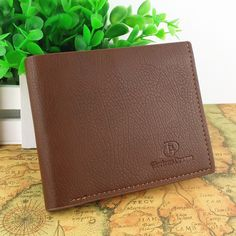 Wholesale High quality Leather men's Wallet Classic short leather wallets Free Shipping