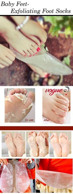 Baby Feet Peeling Moisturizing Exfoliating Socks!