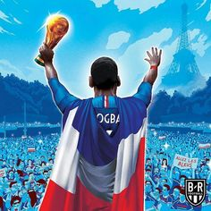 Congratulations to the France team on winning the World Cup! French Football Players, Football Is Life, Football Art, Soccer Players, Football Player Drawing, Soccer Drawing, France Fifa, France Team, Soccer World Cup 2018
