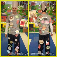 Greg from The Kindergarten Smorgasboard. My real name is Greg Smedley-Warren. I have been teaching for 11 years. I spent a year teachi Literary Costumes, Book Costumes, Book Week Costume, Costume Ideas, Book Characters Dress Up, Character Dress Up, Storybook Character Costumes, Storybook Characters, Teacher Halloween Costumes