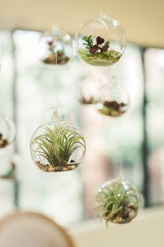 Hanging Glass Tea Light Holders 3in (set of 6)