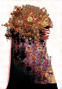 ARTIST: Luis Toledo LaPrisaMata (Spain)     via: #Yellowmenace     #art #collage #AsianInspired