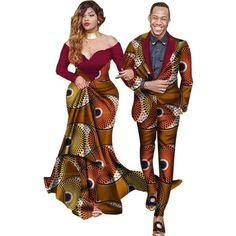 Ankara clothing for couple – Afrinspiration Couples African Outfits, African Dresses Men, African Clothing For Men, African Fashion Ankara, African Women, Ankara Clothing, African Wedding Attire, African Attire, African Wear