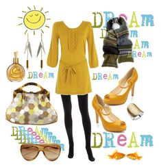 sunshine girl by kathid on Polyvore featuring polyvore moda style Debenhams Christopher Kane Peek Nordstrom Tom Ford Roberto Cavalli Drakes London Monsoon fashion clothing