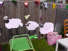 Shaun the Sheep cutouts.