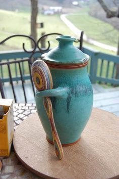 Wishing my throwing skills were up to par. Love this glaze & the spoon!