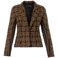 HAIDER ACKERMANN Antoni bi-colour tweed jacket (235 KWD) ❤ liked on Polyvore featuring outerwear, jackets, blazers, black multi, tailored blazer, tweed jacket, haider ackermann, single breasted jacket and wool tweed blazer