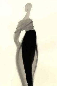 Fashion Illustration by Mats Gustafson (Swedish, b.1951).
