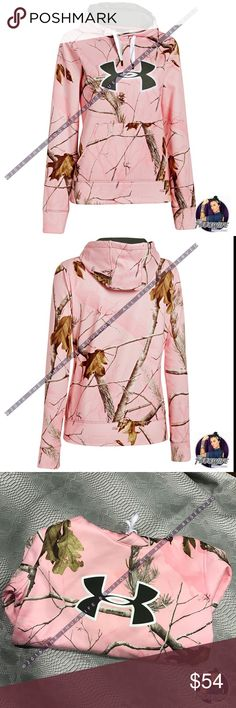 Under Armour pink Camo hoodie real tree NWT Under Armour Real Tree pink camo hoodie   NEW WITH TAGS   Classic real tree Camo print . Light pink in color . Semi fitted .  Use the OFFER BUTTON • bundle for 10% off    please no drama ladies lets be nice   • 5 star rating  • 400+ sales  • smoke free home  • 100% authentic  || www.thethugwife.com ||   N O   TRADES Under Armour Jackets & Coats