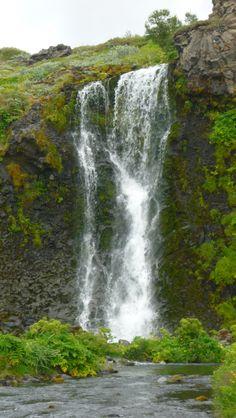 Waterfall in Gjain, Iceland