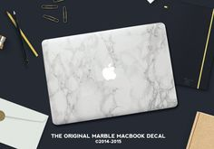 The Original Marble MacBook Decal • Add instant glam to your laptop with a hyer-realistic Marble MacBook Decal • Made in the USA • Copyright 2015