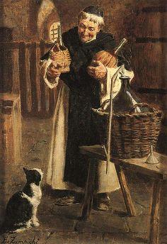 Frate Cantiniere ~ Eugenio Zampighi (1859-1944) ~ (Modena 1859 Maranello, 1944) TuscanyAgriturismoGiratola