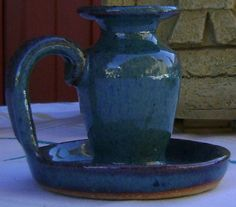Ceramic candlestick holder by theevintageshop on Etsy, $10.00