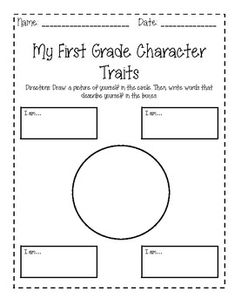 Printables Character Traits Worksheets character trait and first grade on pinterest my traits worksheets end of year reflection
