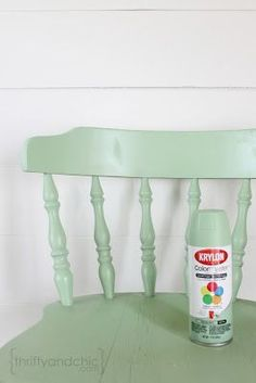 I have a wooden chair that would look great painted! Thrifty and Chic - DIY Projects and Home Decor #KitchenChair