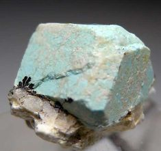 Turquoise after Aquamarine; Apache Canyon Mines, Turquoise Mtns., San Bernadino Co., California