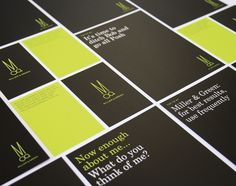 Miller & Green by Jason Little, via Behance