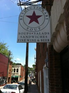 Amazing soups and sandwiches (veggie & vegan, too) at Revolutionary Soup in Charlottesville, VA